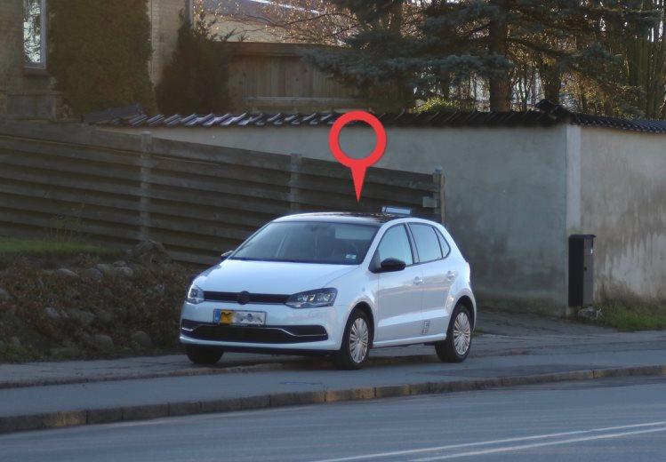 Bil med tyverisikrings gps